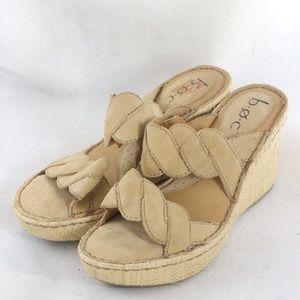B.O.C Double Twist Straps Open Toe Wedge Sandals